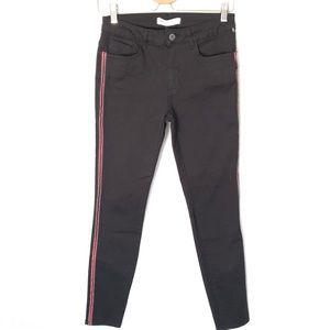 NWT Zara Black Skinny Crop Raw Hem Jeans Women's 8